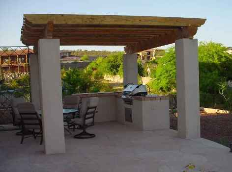 Using your Phoenix Built In BBQ is a lot more pleasant with a shade structure overhead, unless you happen to have a wonderful old tree ready and waiting.