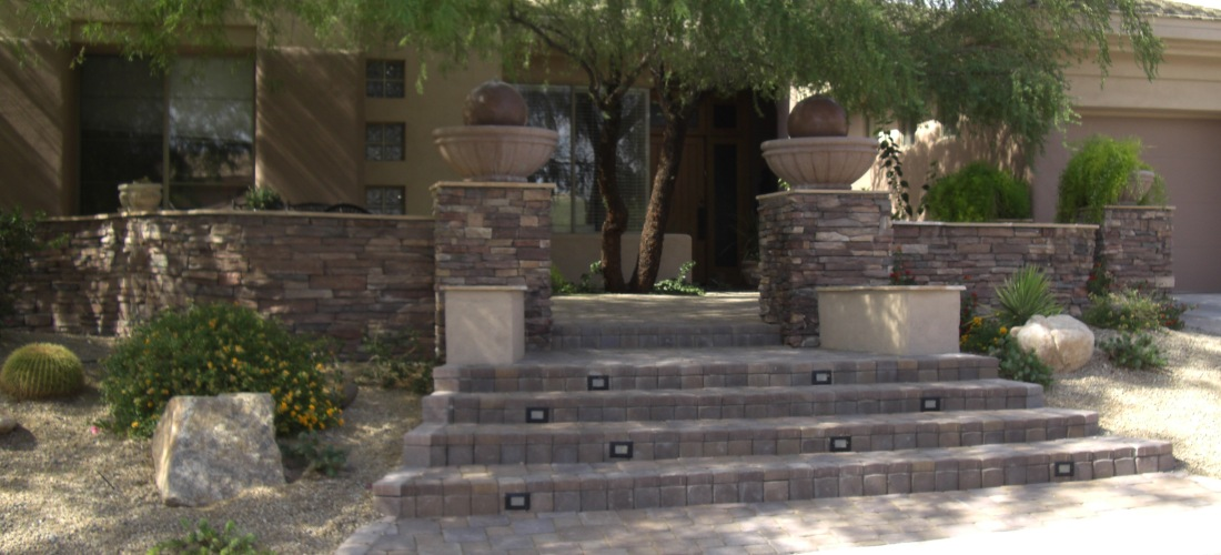 Curb appeal or outdoor living spaces, Phoenix pavers create many solutions.
