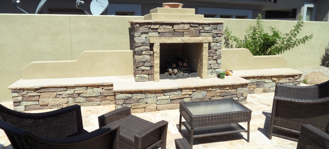 Our Scottsdale & Phoenix Outdoor Fireplaces Portfolio