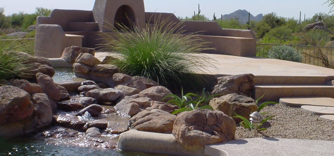 Pool Landscaping Waterfalls Scottsdale Landscape Design