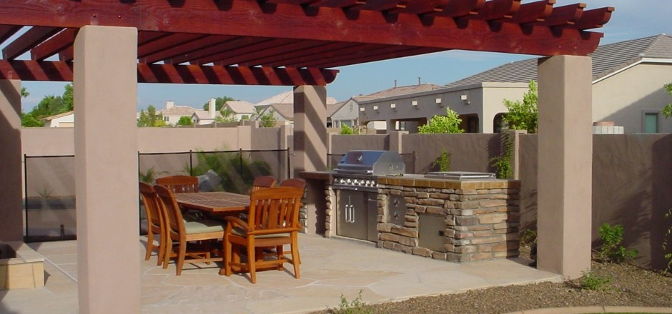 Custom landscape guide: Arizona backyard landscaping pictures bbq pits