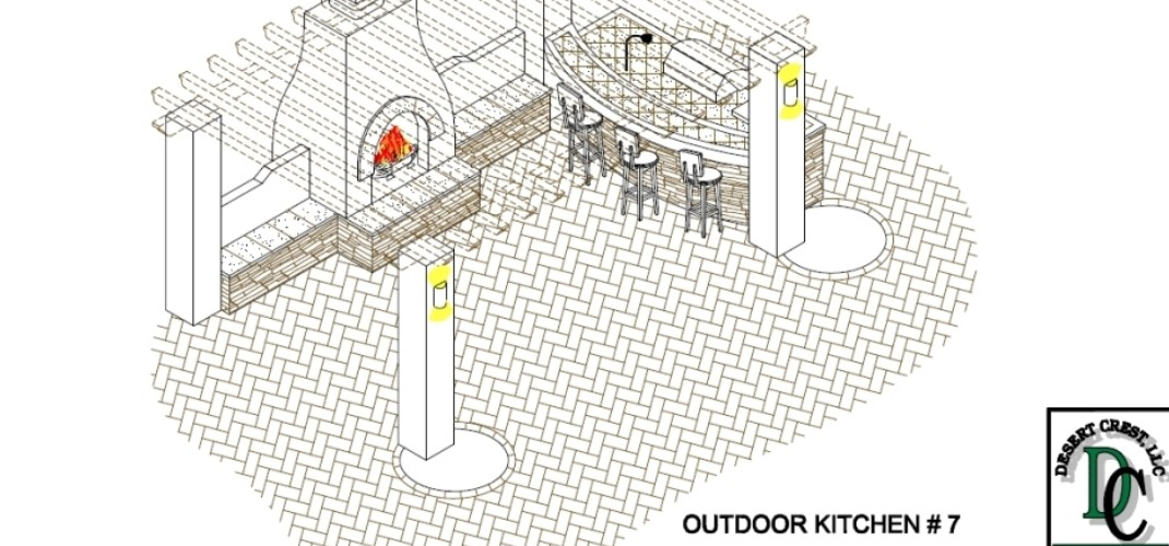 Unique Outdoor Kitchen