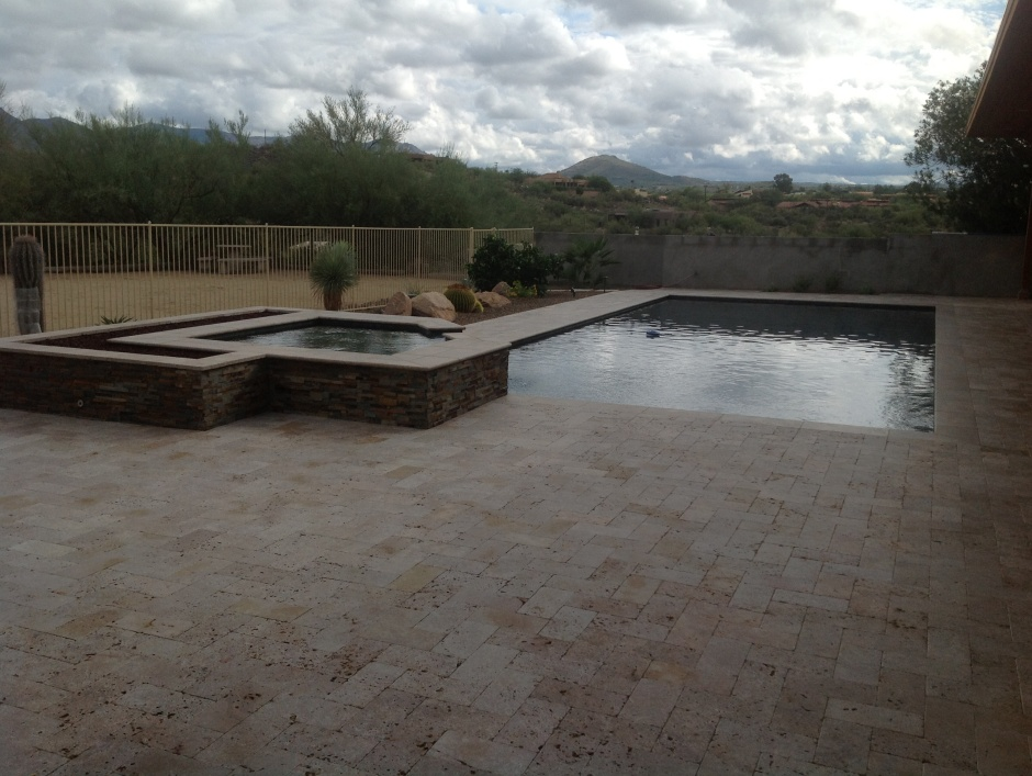Sleek, exciting spa pools. Scottsdale landscaping, patios and more from Desert Crest LLC.
