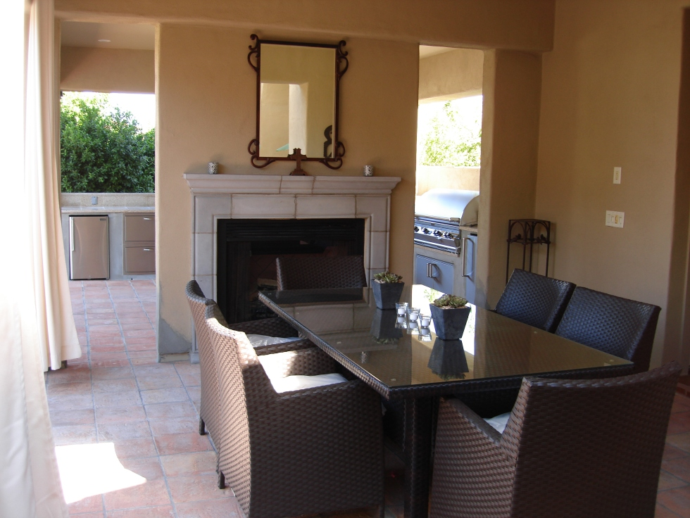 Beautiful outdoor living rooms. Scottsdale landscaping company, Desert Crest LLC, offers 5-star service start to finish.