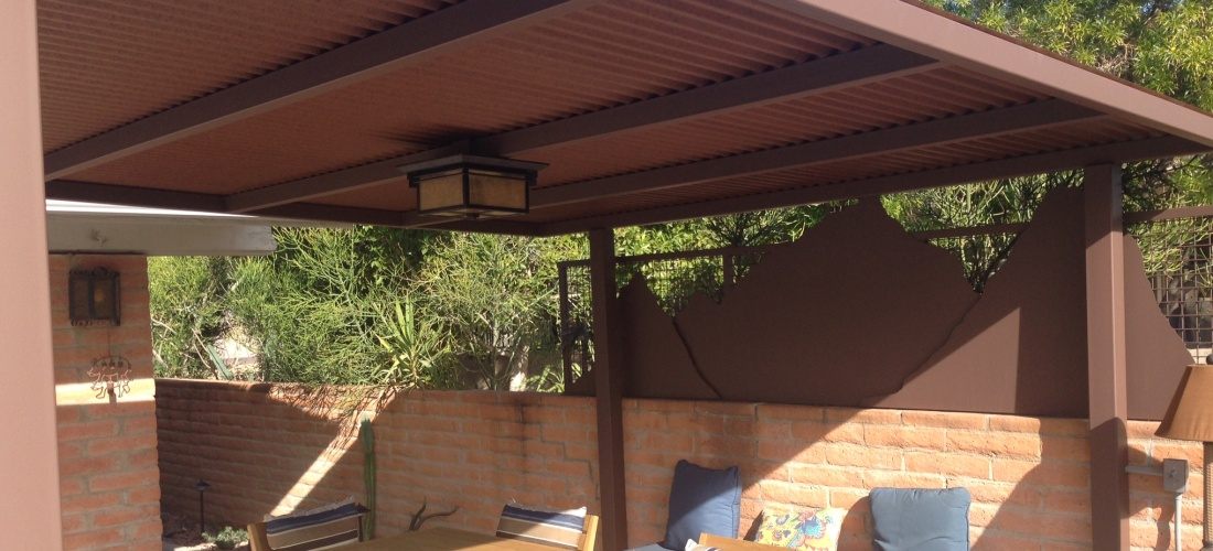 Scottsdale phoenix patio covers pergolas ramadas for Steel shade structure design
