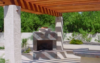 Tons of style and instant shade from Scottsdale and Phoenix pergolas and ramadas built by Desert Crest LLC.