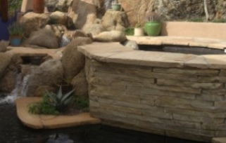 We can help you get that spa blended in with your landscaping. Stone or stucco Scottsdale - Phoenix hot tub surrounds.