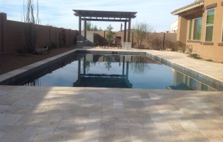 Complete pool installations in Scottsdale - Phoenix. Swimming pools, pool decking and pool landscaping by Desert Crest LLC.