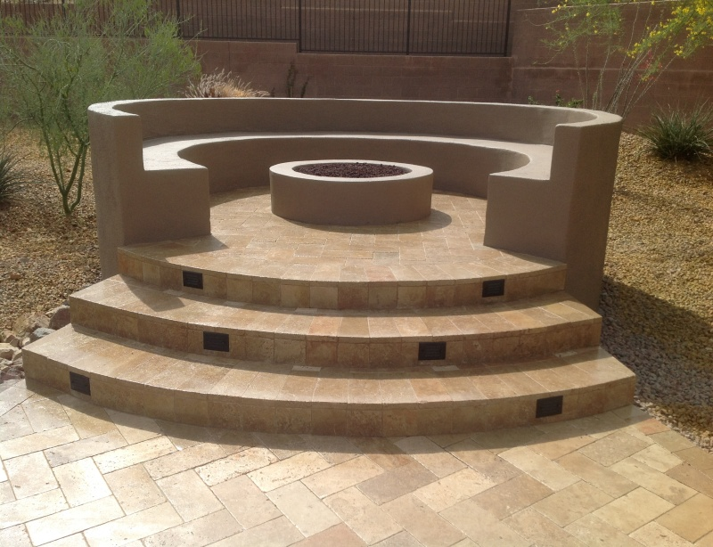 The great thing about Anthem fire pits is there is a style perfect for everyone's needs. Here we've turned the fire pit into a conversation pit.