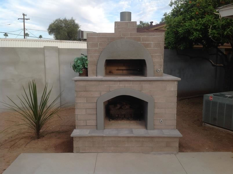 Gorgeous Outdoor Brick Pizza Oven: Phoenix Custom Design by Desert Crest