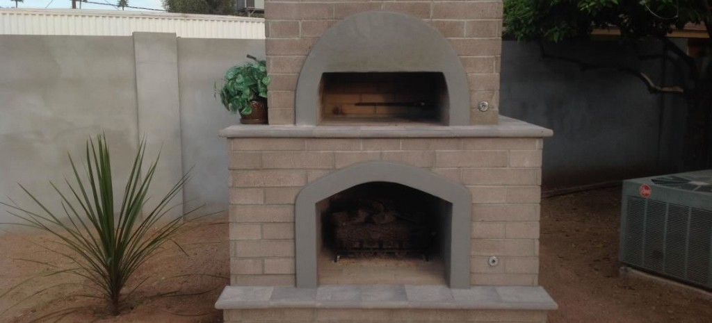 brick pizza oven outdoor fireplace phoenix desert crest llc. Black Bedroom Furniture Sets. Home Design Ideas