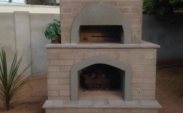 Brick Pizza Oven & Fireplace