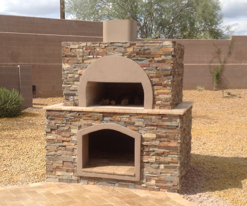 Stone Wood-Fired Pizza Oven: Anthem, AZ | Desert Crest LLC