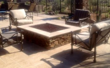 Rustic Stone Fire Pit