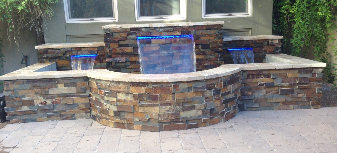Color Falls Fountain Water Features Phoenix Scottsdale