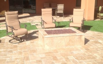 Travertine Fire Pit