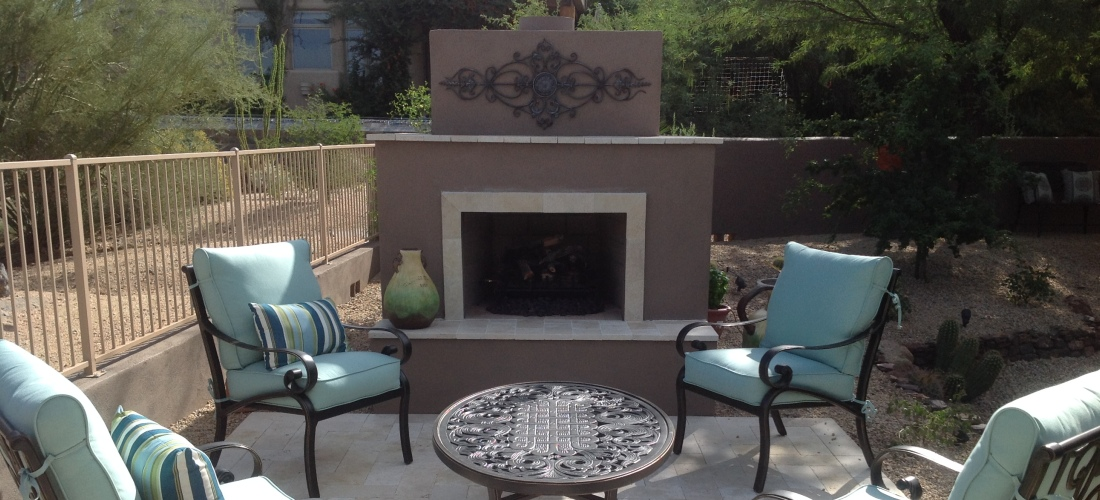 Lovely Patio Fireplace