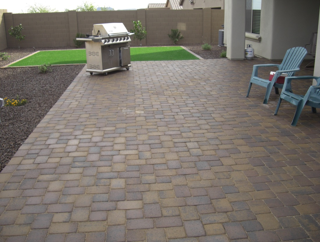 Fire Pit and patio; Glendale landscaping outdoor living spaces by Desert Crest LLC.