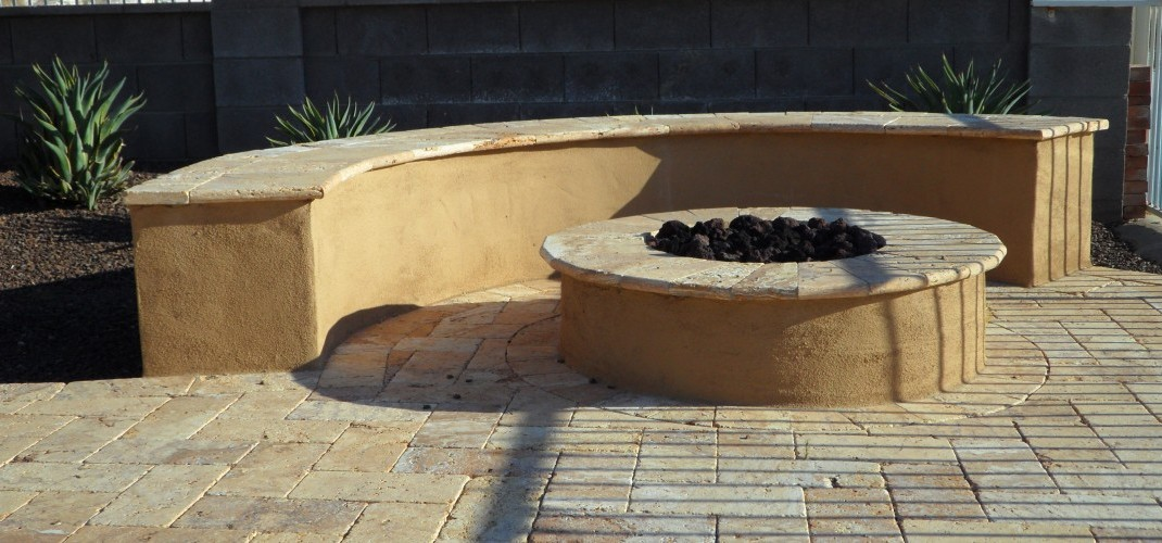 Noce Travertine Fire Pit Desert Crest Llc