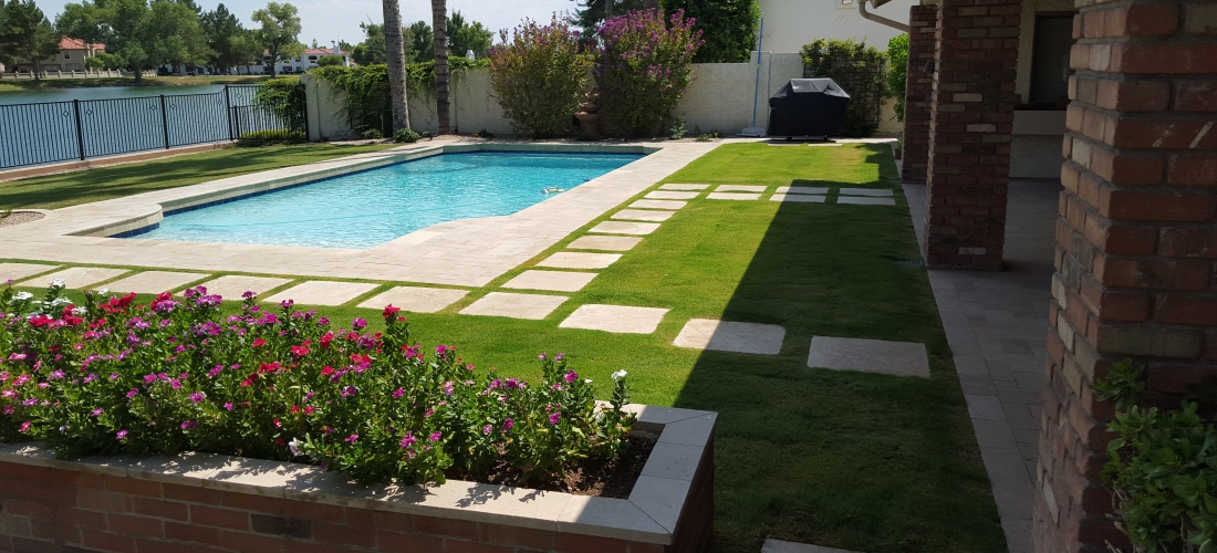 Pavers Update Swimming Pool Scottsdale Desert Crest Llc