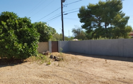 Before Backyard Bocce Ball Court: Scottsdale Landscaping