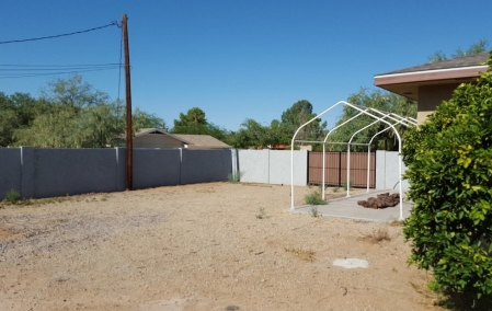 Before Backyard Putting Greens: Scottsdale Landscaping