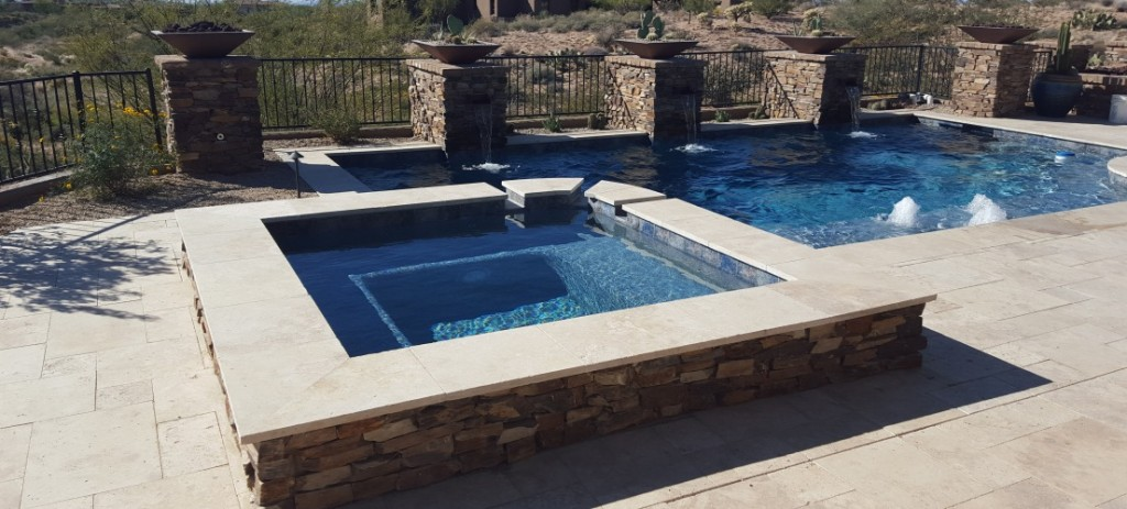 Natural Stone Scottsdale Pool Finishing Desert Crest Llc
