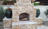 Light Stone Fireplace