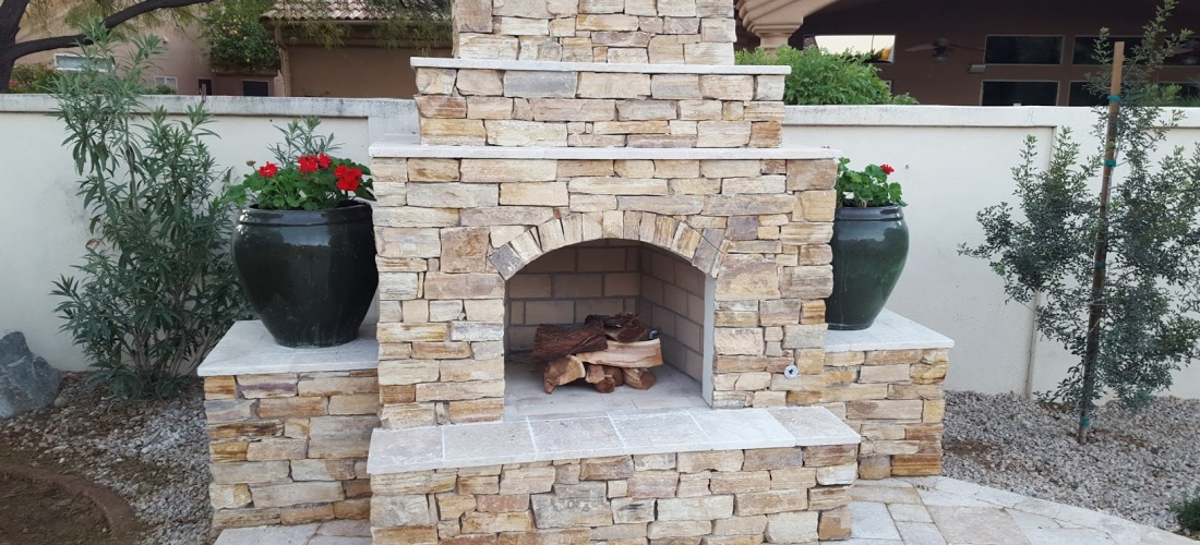 Our Scottsdale Amp Phoenix Outdoor Fireplaces Portfolio