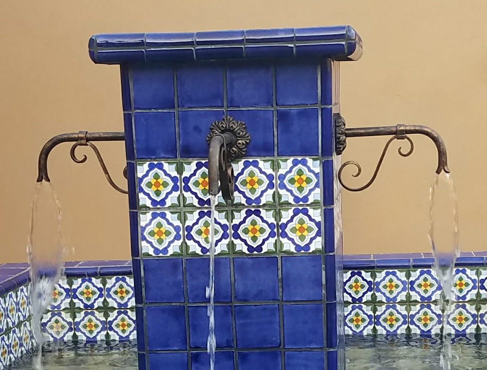 Mexican Talavera Tile Outdoor Fountain: Scottsdale Landsaping