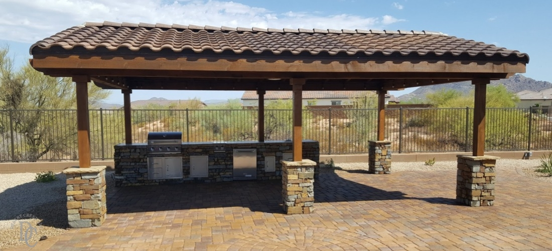 Landscaping phoenix scottsdale landscaping for Metal sun shade structures