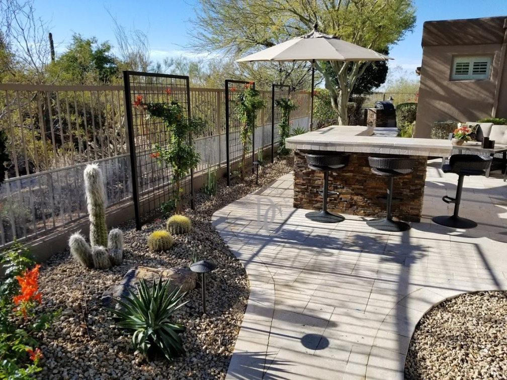 Scottsdale Travertine Patio with Dry Bar